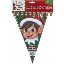 ELF CHRISTMAS PARTY BANDIERINE banner per ELF comportarsi Male Scaffale idee!