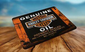 Harley Davidson Motor Oil Co splattered Advert Mouse Mat Gift Idea!