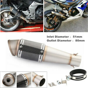 Motorcycle 51mm In Dia. Inclined Tailpipe Steel Exhaust Pipe For Yamaha Kawasaki