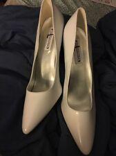 Highest heel white patent  Size 13 heel