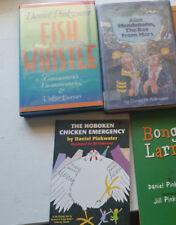 4 book lot daniel pinkwater alan mendelsohn the boy from mars HB 1st ed fish whi