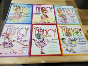 Lot of 5 Fancy Nancy Hardcover Paperback Books by Jane O'Connor - Random *MIX*