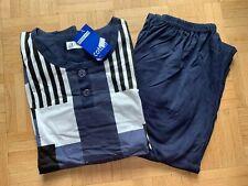 TOP Herren Schlafanzug Pyjama Gr. M bis 2XL dunkelblau gemustert NEU