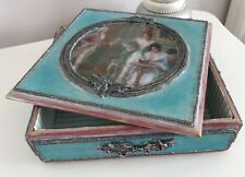 Shabby chic jewelley box large hand made antique gift