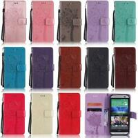 For HTC M8 M9 Desire 825 C830 U11 Cat Tree Wallet Leather Flip Stand Cover Case