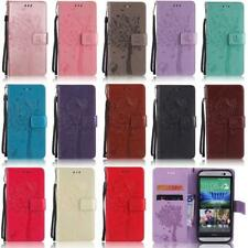 Cat Tree Card Wallet Leather Flip Case Cover For HTC M8 M9 Desire 825 C830 U11