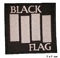Black Flag Heavy Metal Music Band Logo Iron-on Embroidered Patch Jacket Badge