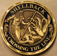 Shellback Navy Marine Corps Challenge Coin     E_V2