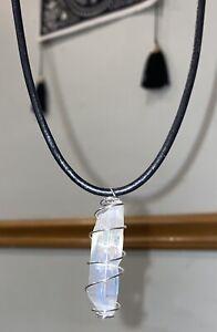 Angel Aura Quartz Stone Crystal Pendant Choker Necklace