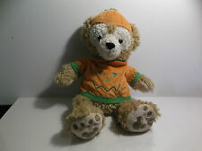 Disney Duffy Bear Halloween Pumpkin Hidden Mickey Bear Plush Parks 12""