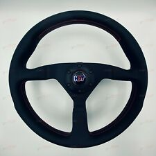 MOMO STEERING WHEEL MONTECARLO RED 350MM HDT Red & Blue Horn 100% Genuine MOMO