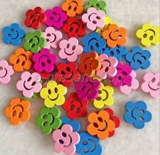 Wooden Flower Sewing Buttons