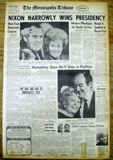 1968 MINNEAPOLIS headline newspaper Republican RICHARD NIXON ELECTED PRESIDENT