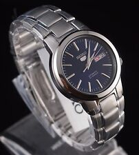 SEIKO 5 SNKA05K1 Stainless Steel Band Automatic Men's Blue Watch New & Gift