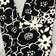NWT Cartoon Flower Abstract Print Buttery Soft Leggings PLUS Size TC White Black