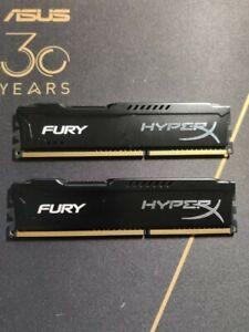 Kingston HyperX Fury 2 x 4go 8GO 8gb 8 gb go DDR3 1600 MHz HX316C10FBK2/8