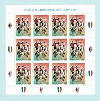 ITALIA REPUBBLICA foglietto intero 1999 MILAN Campione d'Italia