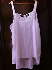 AUTOGRAPH OFF WHITE EMBROIDERED BUTTERFLY HI LO TOP SIZE: 26 BNWOT