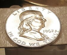 1962  Franklin   CAMEO Proof 90% Silver > Blazing  Mirrored  Surfaces < #805  6