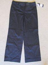 New Women's Reitmans Black Dress Pants/Slacks White Pinstripe Size 10 Petite 10P