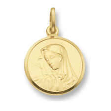 Madonna Pendant Yellow Gold Madonna Necklace 17mm