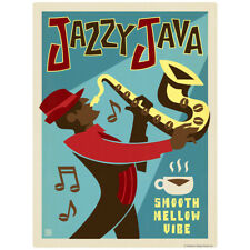 Jazzy Java Coffee Decal 26 x 34 Peel and Stick Kitchen Decor