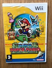SUPER PAPER MARIO Nintendo WII / UK PAL / BRAND NEW & FACTORY SEALED
