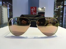 RAYBAN OCCHIALE SOLE AVIATOR RB3523 112/2Y MATTE GOLD/MIRROR PINK ORIGINALE