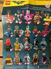 LEGO BATMAN MOVIE SERIES 1 MINIFIGURES COMPLETE SET, 20 FIGURES WITH ACCESSORIES