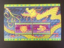 Solomon Islands 2000 Chinese New Year of Dragon Mini Sheet SG MS968 MNH