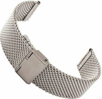 NEW 22mm Mesh Stainless Steel Bracelet Wrist Watch Band Fit BREITLING SWISS ARMY