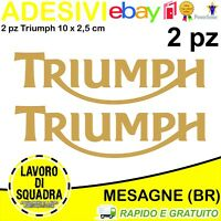 KIT 2 Adesivi Stickers TRIUMPH sppedtriple 675 bonneville streettriple tiger ORO