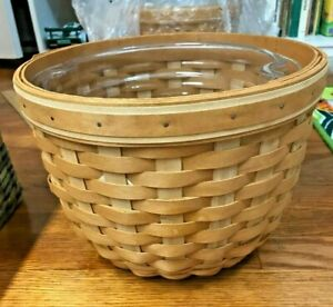 Longaberger 2005 At Home Garden Foliage Basket with 2 plastic protector inserts