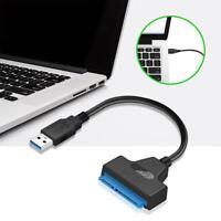 USB 3.0 SATA Cable Sata To USB Adapter 2.5 Inches 22 Pin SSD Sata Cable Black