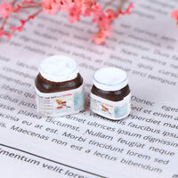 2Pcs 1:12 Dollhouse Miniature Food Chocolate Sauce Doll Kitchen Accessories FT