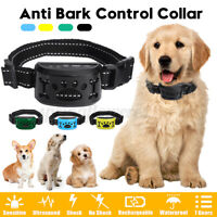 Upgraded Rechargeable Waterproof Anti Bark No Barking Dog Training Shock Collar