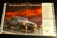 1986 Ford Thunderbird Vintage PRINT AD 1983 84 85 87 88 GM