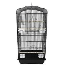 "37"" Black Metal Bird Cage Budgie Finch Canary Parakeet Cockatiel Parrot Perches"