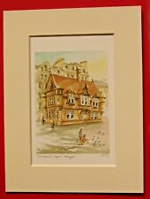 ST ENOCH'S SQUARE GLASGOW CHARMING MOUNTED WATER COLOUR PRINT 8X6 OVERALL P GRAY