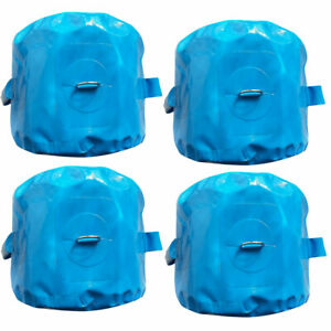 5 Gallon Blue Vinyl Water Bag Inflatable Bounce House Anchor Down Weight 4 Pack