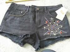 Black denim shorts size 12 New with tags