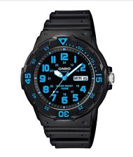 Casio Watch * MRW200H-2BV Diver Look 100WR Neon Blue Black Resin COD PayPal