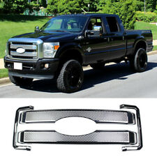 For 2011-2016 FORD F250 F350 F450 F550 Chrome Grille Grill COVER Overlay Insert