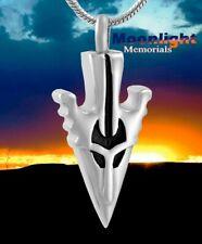 New Arrow Head Cremation Urn Keepsake Ash Silver Memorial Necklace