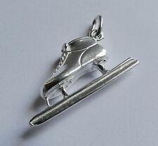 925er Silber Anhänger Eisschnelllauf Schlittschuh K019