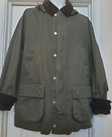 Brooks Brothers Outerwear green Field Jacket Barn Chore Coat Plaid Lining Sz M