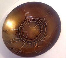 Vintage MCM M Winter Modernist Enamel on Copper Abstract Dish Bowl