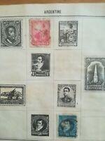 lot N°233 - 2 timbres Argentine à décoller