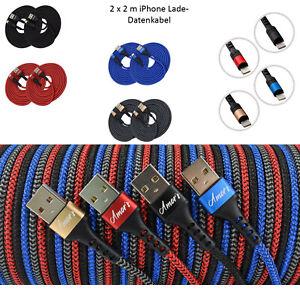 2x 2m Amor´s iPhone Schnell Ladekabel Kabel für iPhone 6 7 8 X XR 11 12 iPad