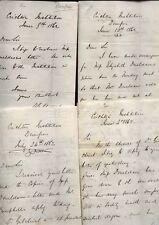 1862 DUMFRIES, CRICHTON INSTITUTE, Dr. HUGH STEWART, 4 MANUSCRIPT LETTERS